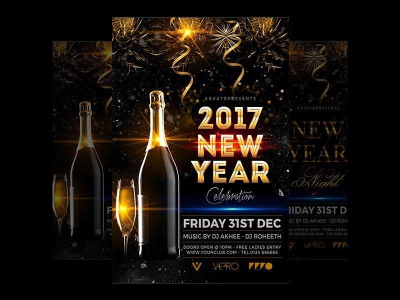 20+ 2017 New Year Flyer Templates | Free & Premium Templates