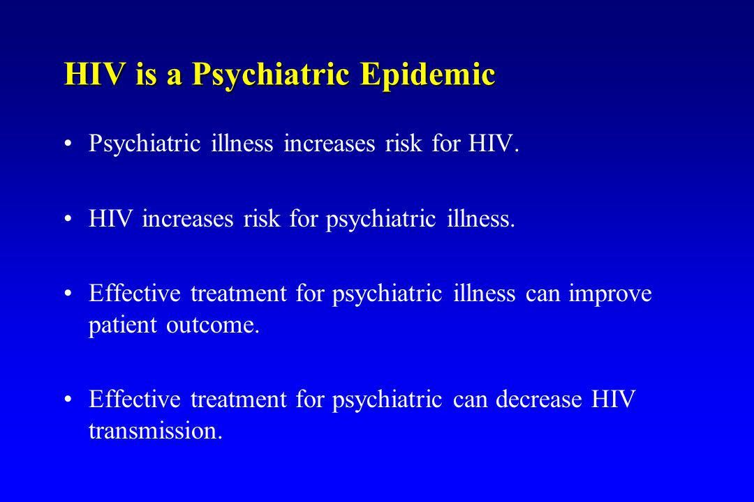 Depression and PTSD Treatments Improve HIV Treatment Outcome Eric ...