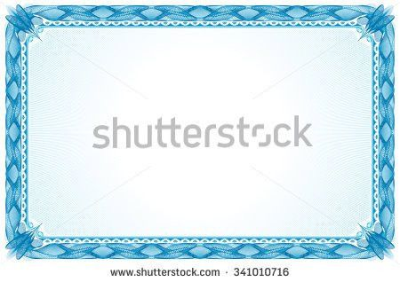 Blue Certificate Border Stock Images, Royalty-Free Images ...
