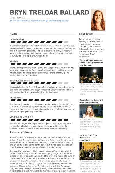 Sports Editor Resume samples - VisualCV resume samples database