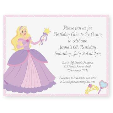 Princess Party Invitation Template - Musicalchairs.us