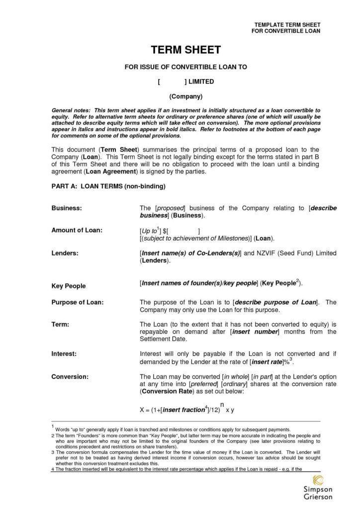 Term Sheet Template | HAISUME