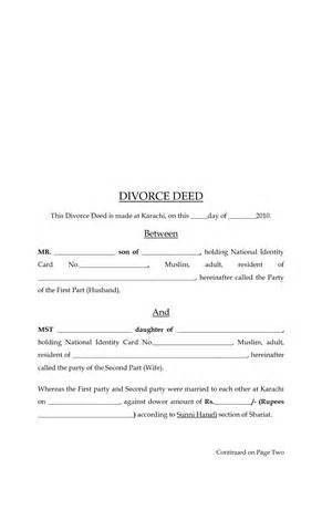 Divorce Letter Format - Best Template Collection
