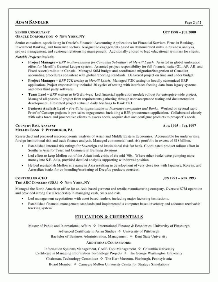 Senior Business Analyst Resume Summary Senior Business Analyst ...