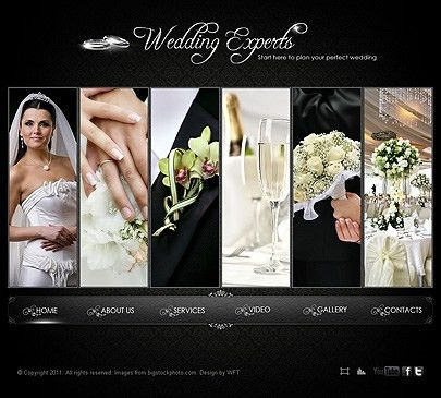 Wedding Experts Photo Video website template - Tonytemplates