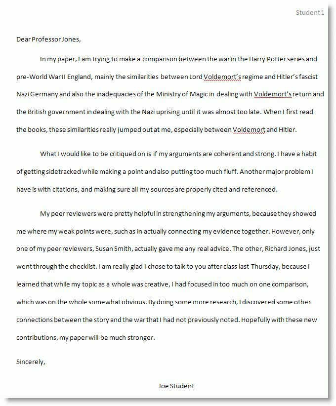 Essay cover letter examples - our work