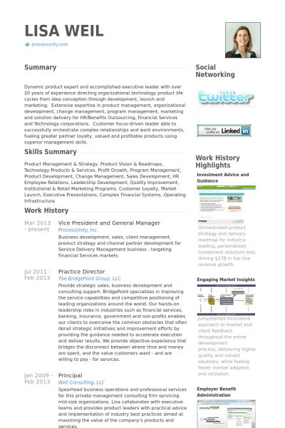 Vice President And General Manager Resume samples - VisualCV ...