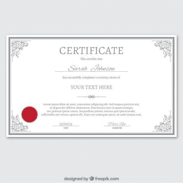 Certificate template in ornamental style Vector | Free Download