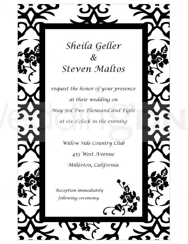 Celebrity Fashion Fame: wedding invitation clip art borders free