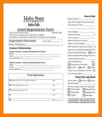6+ event registration form template | packaging clerks