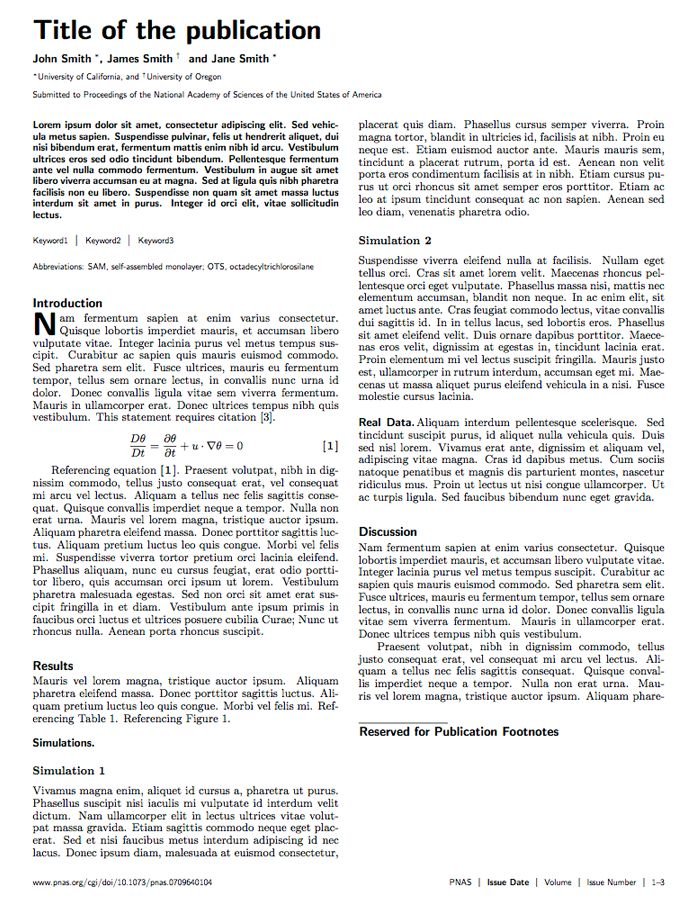 LaTeX Templates » Academic Journals