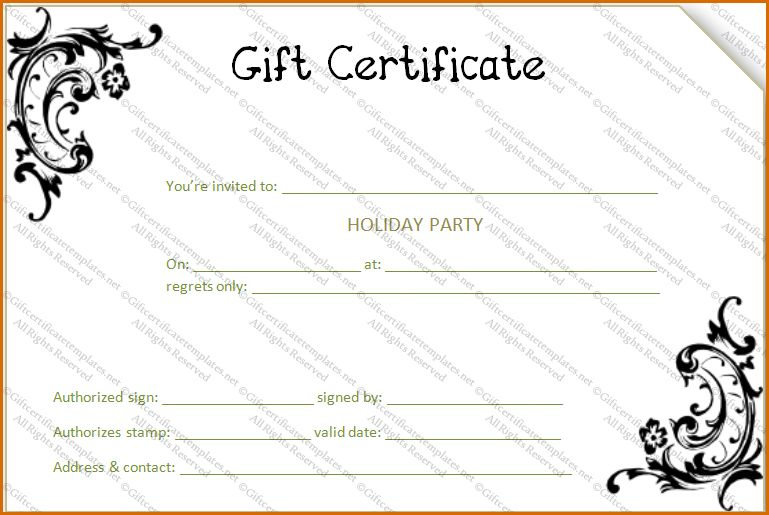 13+ gift certificate templates free | Authorizationletters.org