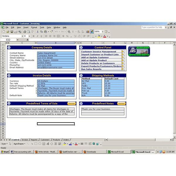 Find Free Accounting Software for Excel