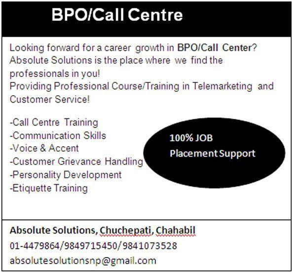 Career in BPO / Call Center (Administrative / Management): Job ...