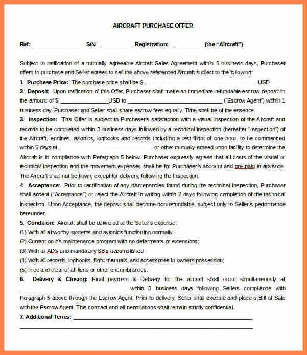 4+ business purchase letter of intent template | Purchase ...