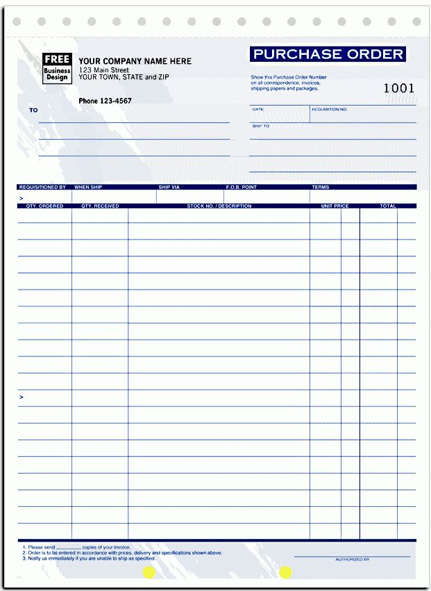 Purchase Forms - Use these purchase order forms to control the ...