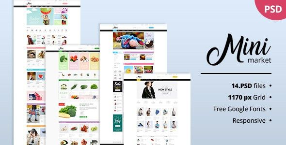 Grocery Templates from ThemeForest
