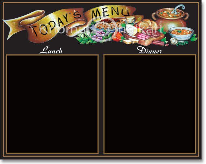 special chef menu template