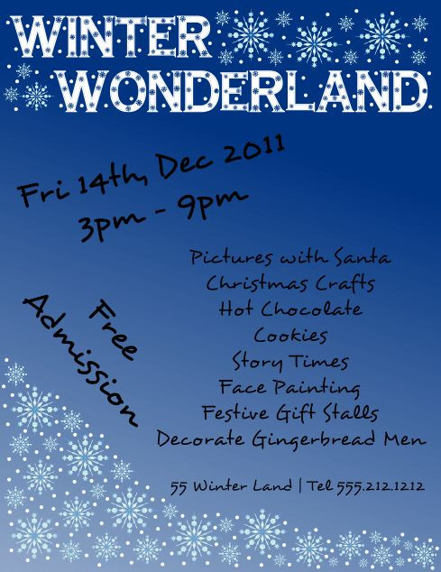 Free Downloadable Winter Wonderland Flyer Template | FlyerTutor ...