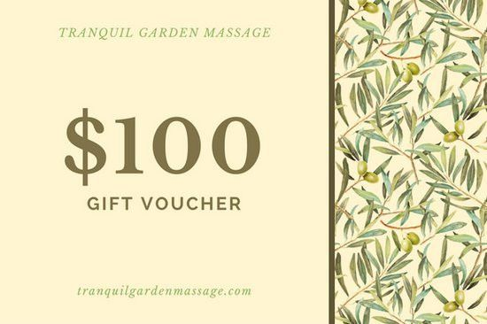 Painted Leaves Pattern Yellow Massage Gift Certificate - Templates ...
