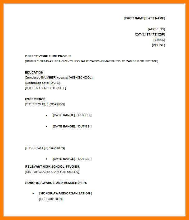 12+ high school resume template | billing clerk resume