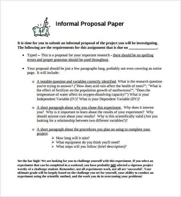 Sample Informal Proposal Template   5+ Free Documents In PDF