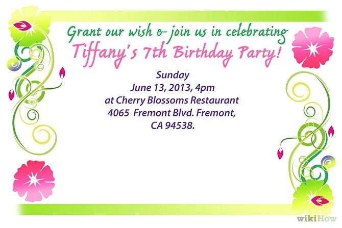 Birthday Invitation Message Examples Birthday Invitation Wording - Birthday invitation message examples