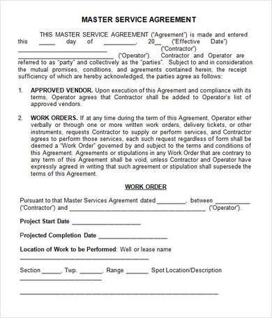 Basics to Make Your Own Service Agreement Template