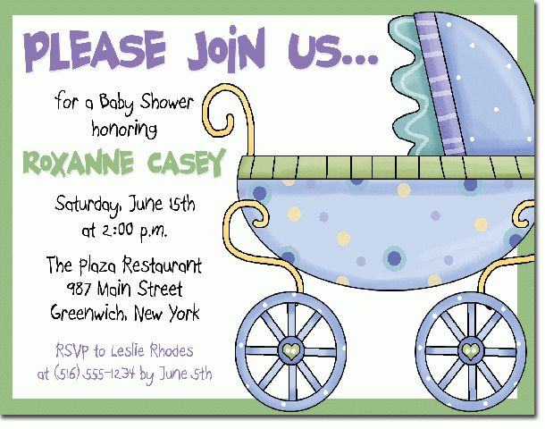 baby shower invitation sample baby shower invitation wording ...