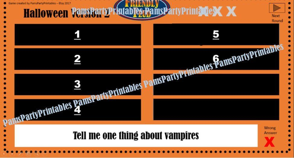 Halloween Friendly Feud GAME TWO Family Feud Interactive