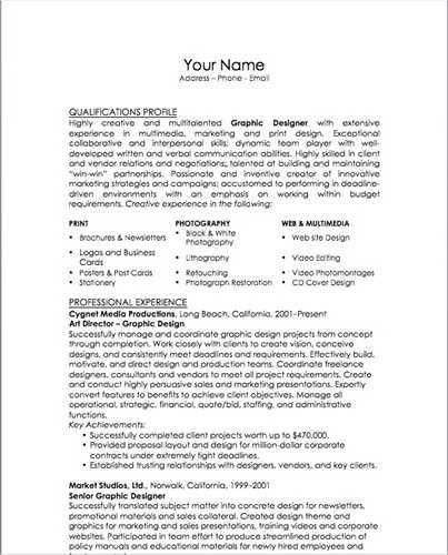 how to create a strong resumes