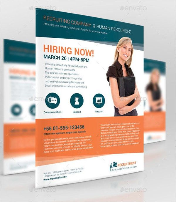 10+ Recruitment Flyer Templates - Free PSD, AI, EPS Format ...