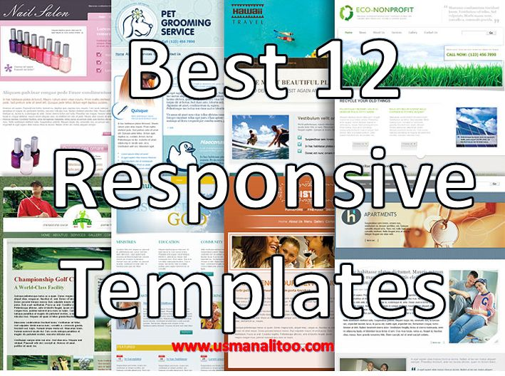 12 Free Responsive HTML5 CSS3 jquery Website Templates