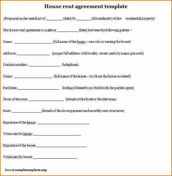 7+ Examples Of Rental Agreements | Printable Receipt
