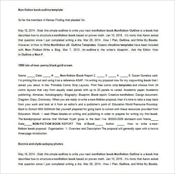 novel format template
