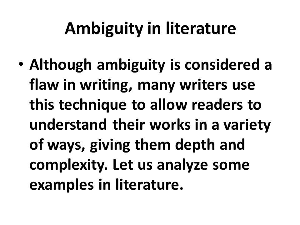 Definition of Ambiguity - ppt video online download