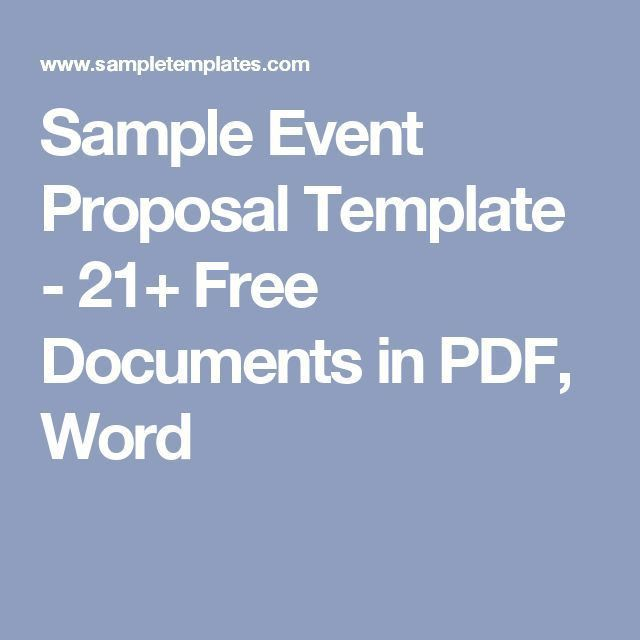 The 25+ best Event proposal ideas on Pinterest | Event planners ...