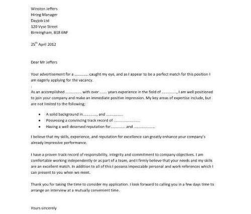 Resume Builder cover letter template simon higgins | RecentResumes.com