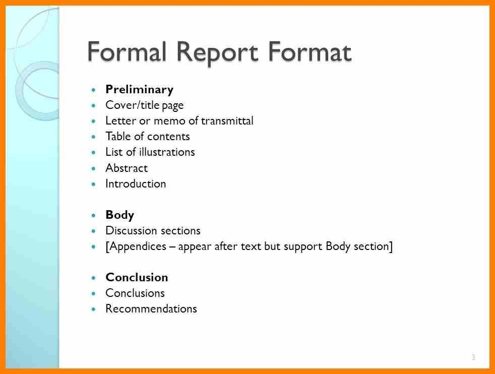 5+ Formal Report Writing Format | Target Cashier