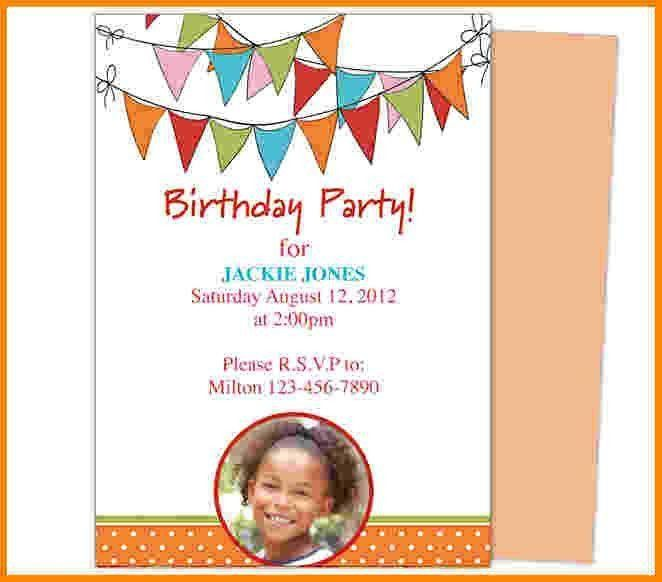 invitation birthday template word