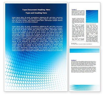 Blue Grid Background Word Template 06973 | PoweredTemplate.com