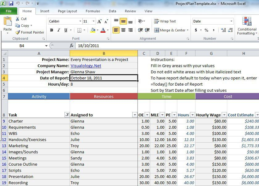 Use This Excel Spreadsheet For Project Management | Lifehacker ...