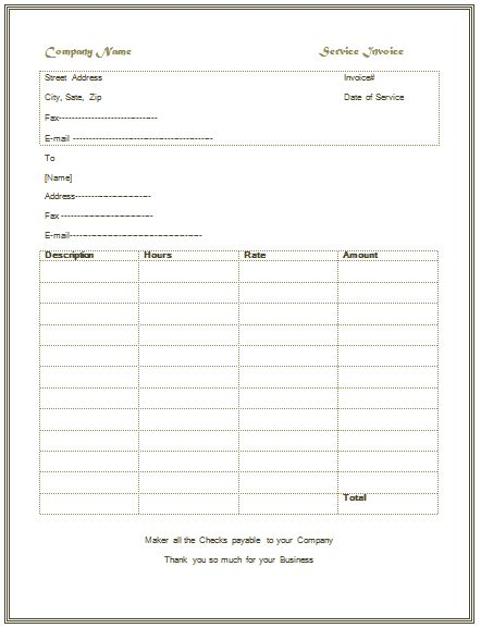 Basic Invoice Template Word - Resume Templates
