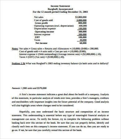 Simple Income Statement - 7+ Free PDF Documents Download | Free ...