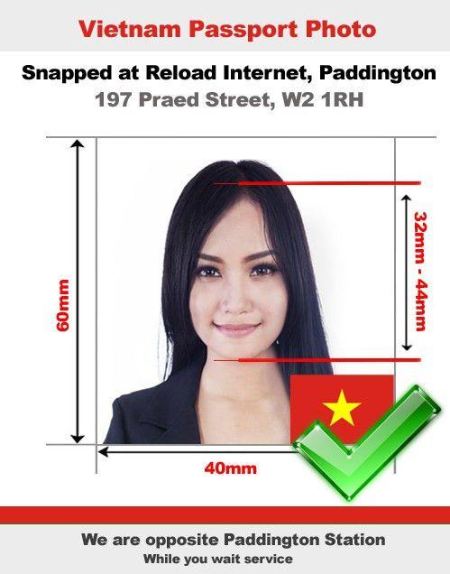 Vietnamese Passport Photo and Visa Photo snapped in Paddington, London