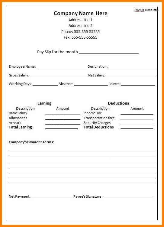 3+ employee payslip template excel | cashier resumes