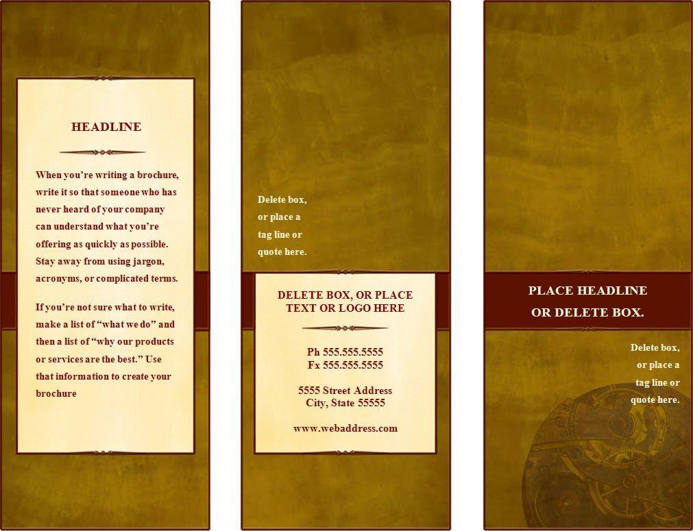 Make A Tri Fold Brochure