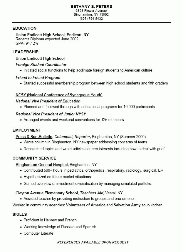 food delivery resume high school student resume builder by angela ...