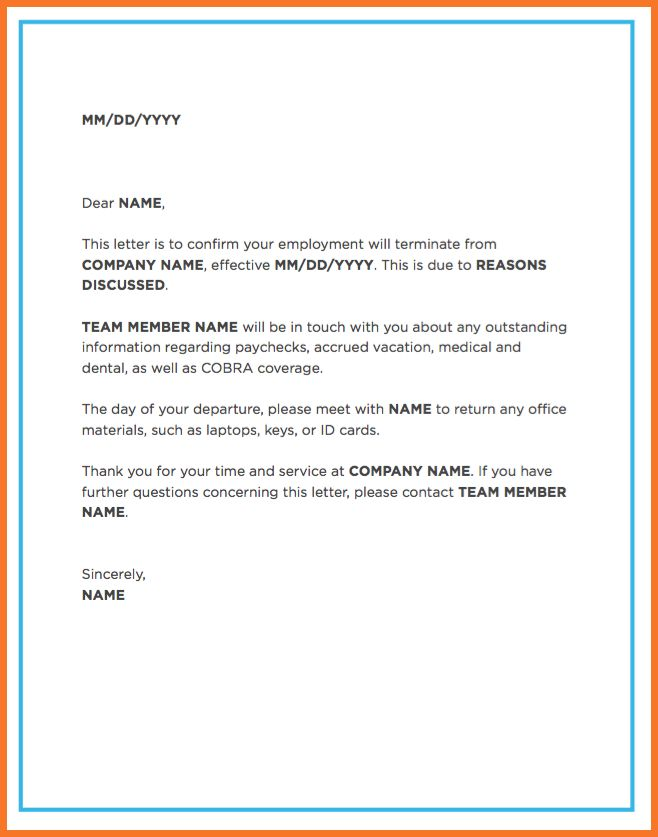 termination letter | sow template
