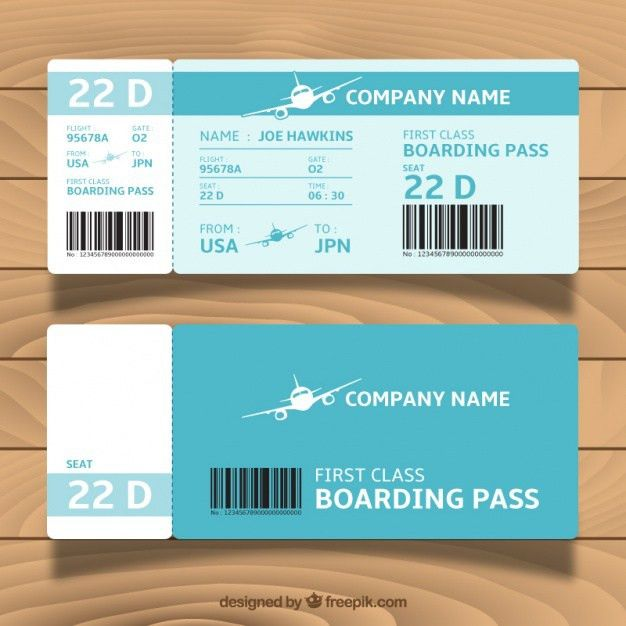 Airplane Ticket Vectors, Photos and PSD files | Free Download